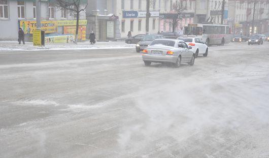 В Можгинском районе Удмуртии из-за гололеда ограничено движение транспорта