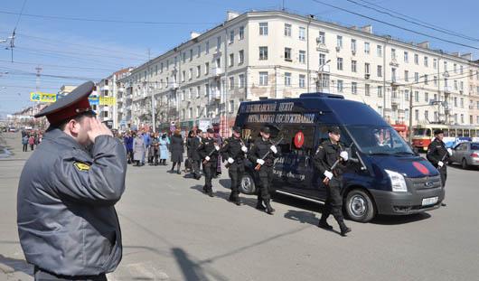 В Ижевске простились с погибшим в Дагестане полицейским