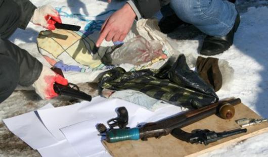 В Ижевске нашли тайник с боевым оружием
