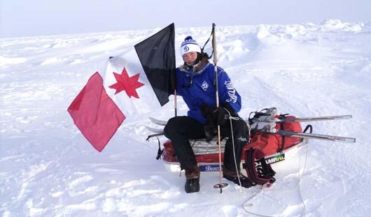 Ижевский школьник установил флаг Удмуртии на Северном полюсе