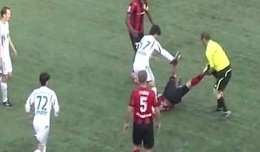 Чеченский футбольный судья дисквалифицирован пожизненно за избиение игрока