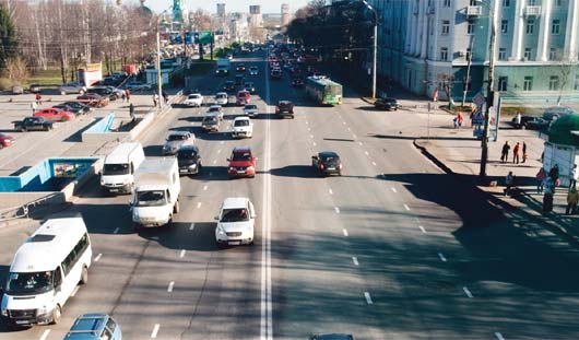 Катафоты и пластиковая разметка появятся на дорогах Ижевска до 1 июня