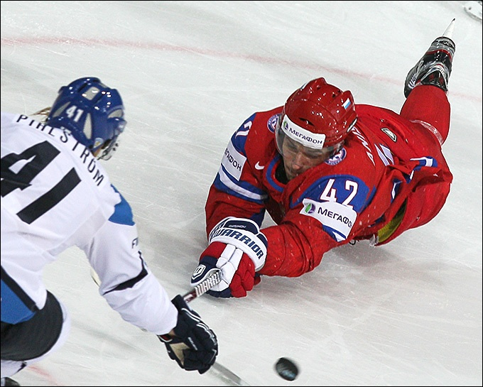 Со счётом 3:2 сборная России по хоккею проиграла финнам