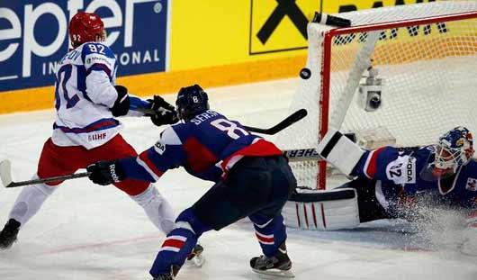 Сборная России по хоккею выиграла у словаков со счётом 3:1