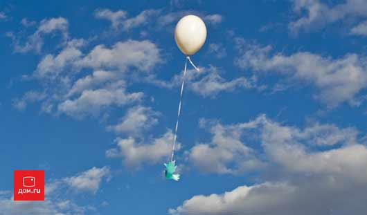 В память о Великой победе Дом.ru организовал торжественный запуск воздушных шаров