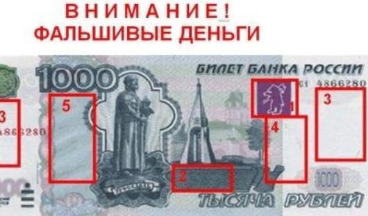 В Удмуртии за сутки изъяли 7 тысяч фальшивых рублей