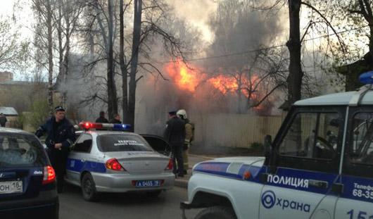 Пожарные Удмуртии установили, что частные дома на Пушкинской не поджигали