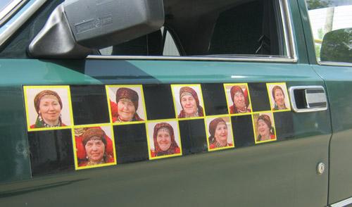 Фотофакт: в Ижевске появилось такси с шашечками «Бурановские бабушки»