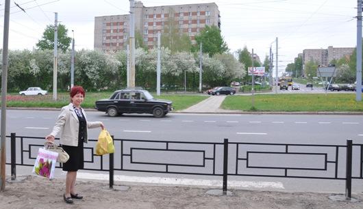 В Ижевске убрали пешеходный переход через кольцо 9 Января-Ворошилова