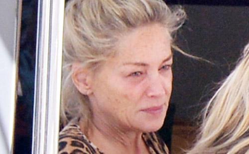 Папарацци засняли 55-летнюю Шэрон Стоун без косметики
