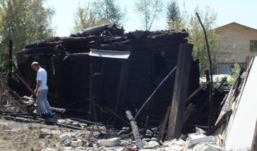 В Ижевске во время пожара в частном доме взорвался газовый баллон