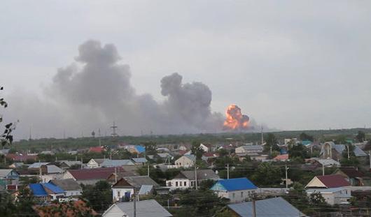 На полигоне в Самарской области взрываются боеприпасы