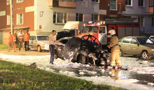 В Ижевске ночью сгорел автомобиль