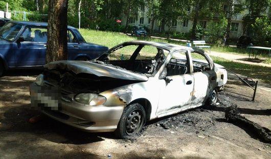 Ночью 30 июня в Ижевске сгорел автомобиль