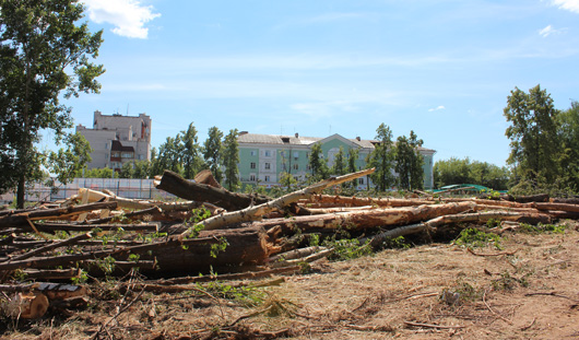 Место для будущего бассейна у Дворца спорта в Ижевске изучат археологи?
