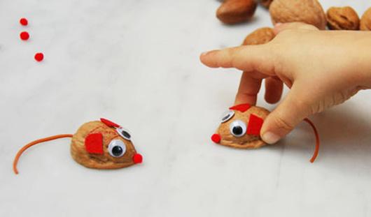 Поделки из орехов для детей