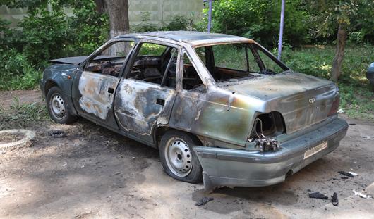 В Ижевске снова сгорел автомобиль