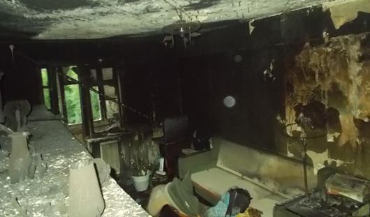 В Ижевске в двухкомнатной квартире произошел пожар