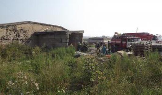 В Ижевске загорелась мебельная фабрика