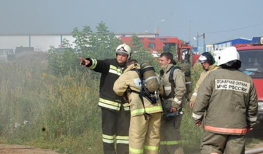 В Ижевске при пожаре на мебельном складе никто не пострадал