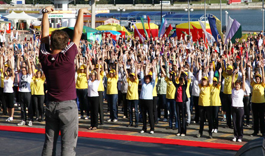 Фестиваль спорта и фитнеса в Ижевске: зарядка со звездой и турнир по баскетболу