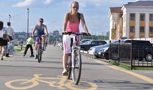 В этом году велодорожка соединит улицу Удмуртскую и парк Кирова в Ижевске