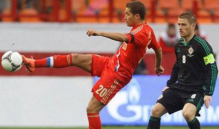 14 августа российские футболисты сыграют с командой Северной Ирландии