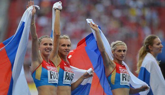 Сборная России лидирует по количеству медалей на ЧМ по легкой атлетике