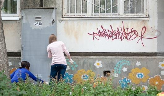 Московские художники начали разрисовывать ижевские улицы