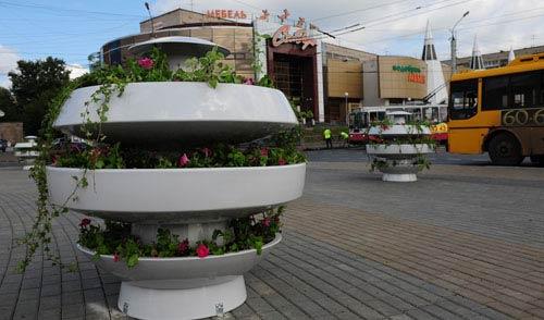 Фотофакт: в Ижевске благоустраивают кольцо Пушкинская - Либкнехта