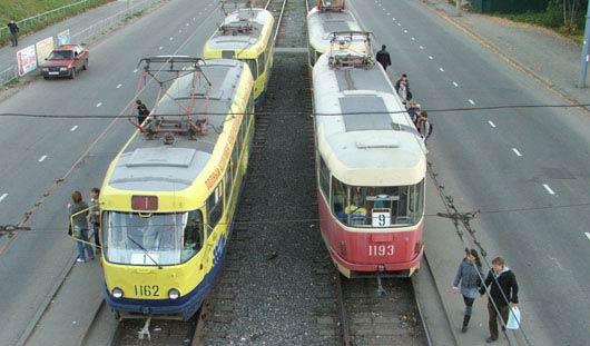 Из-за аварии в Ижевске в сторону ж/д вокзала встали трамваи