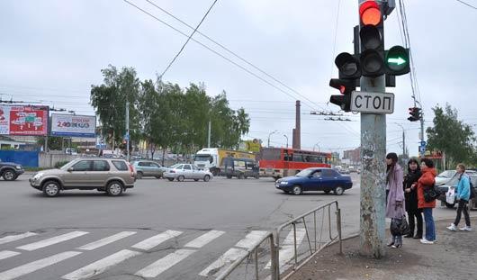На улице Кирова в Ижевске не работают светофоры