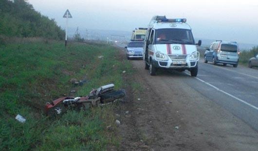 В Ижевске, не приходя в сознание, после ДТП скончался пассажир мотоцикла