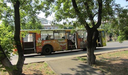 Из-за аварии в Ижевске образовалась пробка из троллейбусов