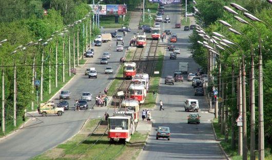 В Ижевске встало движение трамваев в Металлурге