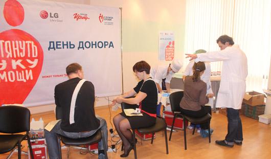 Более сотни ижевчан сдали кровь у ТЦ «Октябрьский» и в ВЦ «Удмуртия»