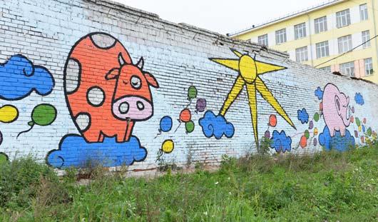 4 самых необычных уличных рисунка в Ижевске и история их появления