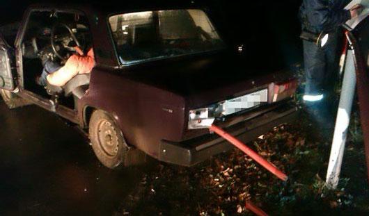 В Удмуртии водителя «семерки» проткнуло металлической трубой