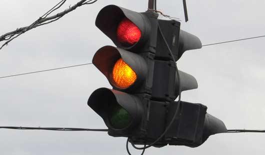 На двух перекрестках в Ижевске отключились светофоры