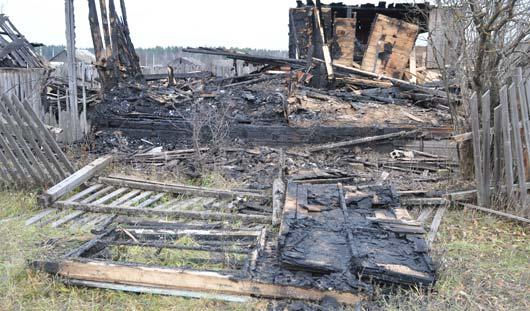 За месяц в селе Удмуртии сгорели семь домов, три человека погибли
