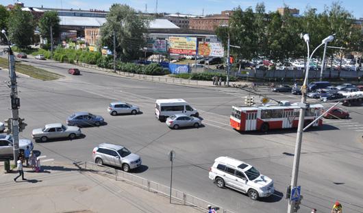 Камеры на перекрестке Удмуртская-Кирова в Ижевске не работают