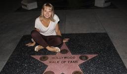 Креативное фото и я на Аллее звезд в Голливуде