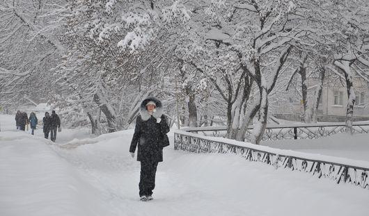 Снегопад обещают синоптики Ижевска в ночь на среду