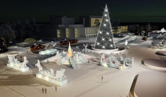 На 4-сторонней горке в Центре Ижевска установят Олимпийский огонь