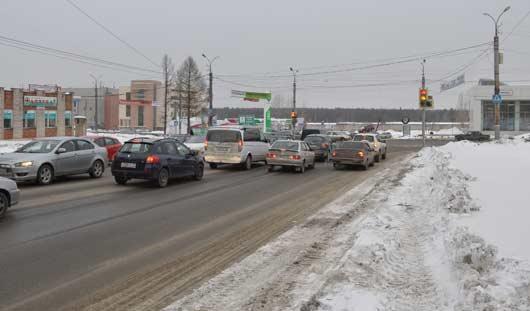 На перекрестке у ТЦ «СИТИ» в Ижевске изменили схему проезда перекрестка