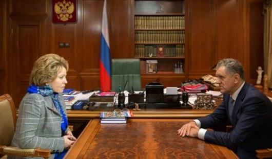 Президент Удмуртии рассказал Валентине Матвиенко о рекордах строительства детсадов в регионе