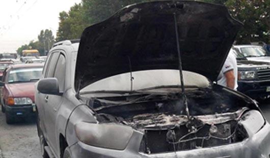 В Ижевске из-за утечки газа загорелось такси