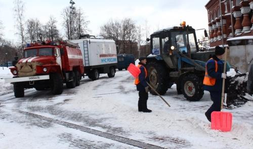 Фотофакт: в Ижевске готовятся к прощанию с Михаилом Калашниковым