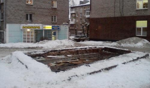 В центре Ижевска убрали киоск