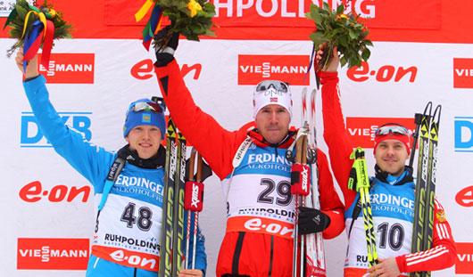 Российские биатлонисты завоевали медали на этапе Кубка мира